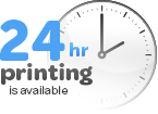 24 hour printing available