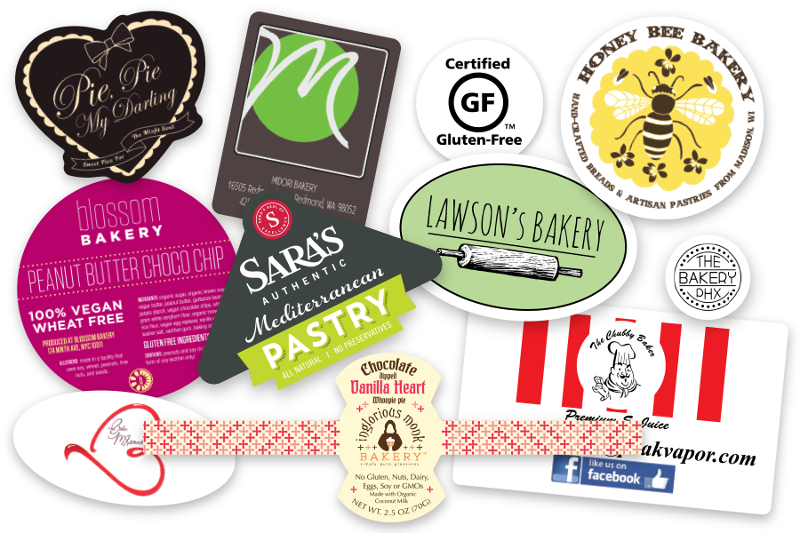 Custom printed product labels examples