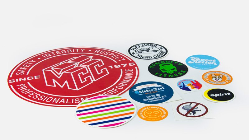 Custom printed circle stickers