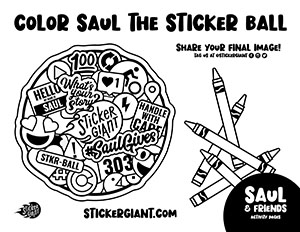 Color-Saul-the-Largest-Sticker-Ball-Activity-Page-from-StickerGiant-for-National-Sticker-Day