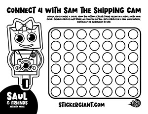 Connect-Four-with-Sam-the-Shipping-Cam-Activity-Page-from-StickerGiant-for-National-Sticker-Day