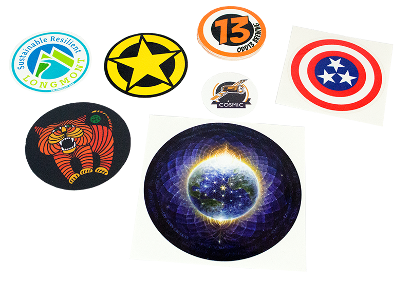 Custom circle stickers from StickerGiant