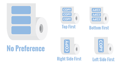Choose the right orientation for your custom product labels from StickerGiant