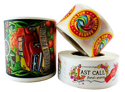 Custom Printed Product Labels are Finished on a Roll at StickerGiant