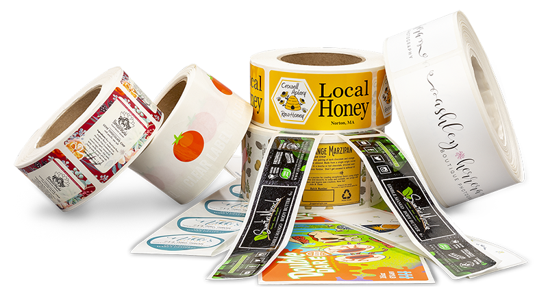 Examples-of-Custom-Product-Labels-printed-on-rolls-by-StickerGiant
