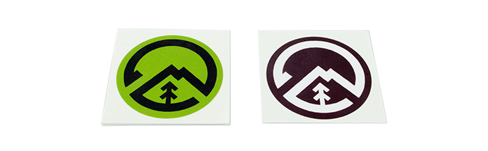 Custom-Logo-Stickers-in-two-Color-Variations-Printed-at-StickerGiant