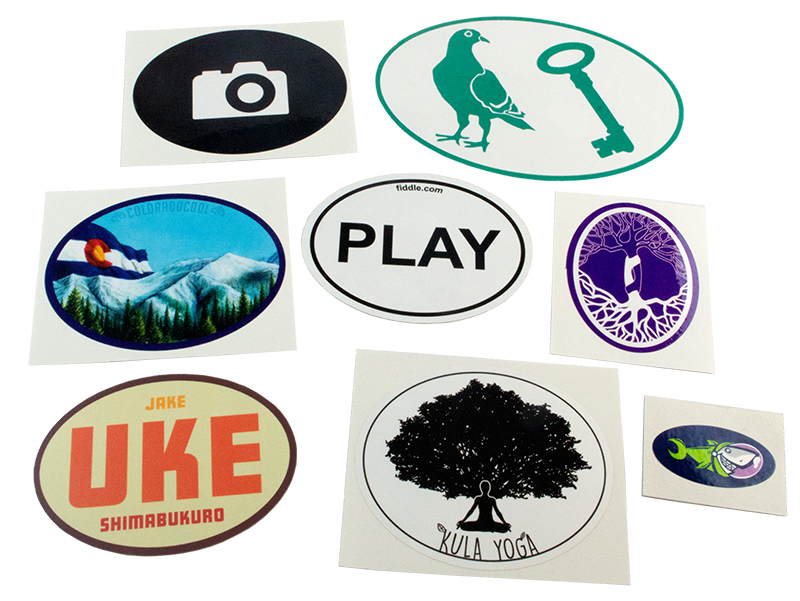 Custom oval stickers from StickerGiant