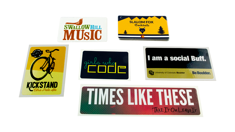 Examples of Custom Printed Rectangle Stickers from StickerGiant