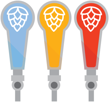 Custom Shaped Stickers and Labels for Beer Tap Handles Printed at StickerGiant