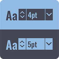 Diagram-Showing-Minimum-Font-Sizes-that-Work-Best-on-Light-and-Dark-Backgrounds-for-Custom-Labels-Printed-at-StickerGiant