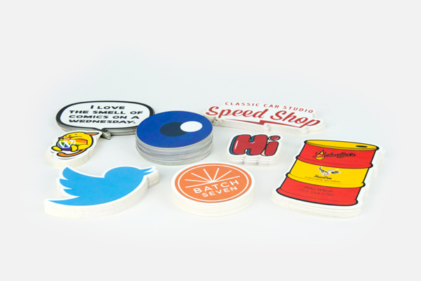 Custom printed die cut stickers examples