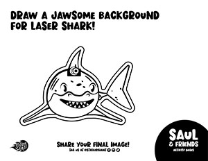 Draw-a-Jawsome-Background-for-Laser-Shark-Activity-Page-from-StickerGiant-for-National-Sticker-Day