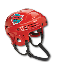 Hockey-helmet-with-a-Silkscreen-Sticker