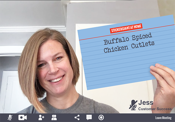 Jess-on-the-Customer-Success-Team-at-StickerGiant-Cookbook-2020