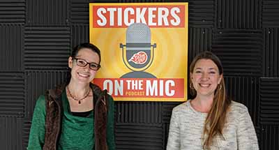Kim-with-Aloha-Trading-Co-and-Megan-from-the-StickerGiant-Marketing-Team-after-the-Stickers-on-the-Mic-Podcast