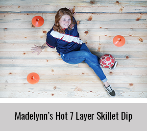 Madelynn-Shares-her-Hot-7-Layer-Skillet-Dip-for-the-StickerGiant-2020-Cookbook