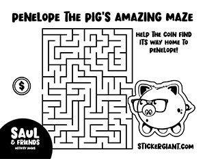 Penelope-the-Pig_s-Amazing-Maze-Activity-Page-from-StickerGiant-for-National-Sticker-Day