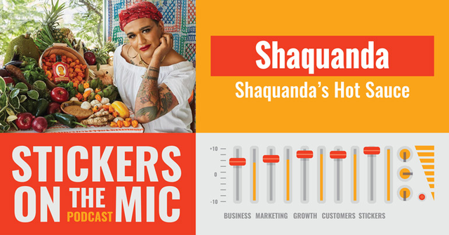 Shaquanda-Chats-Hot-Sauce-and-More-on-the-Stickers-on-the-Mic-Podcast-with-StickerGiant