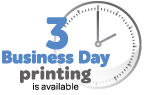 Three day printing available