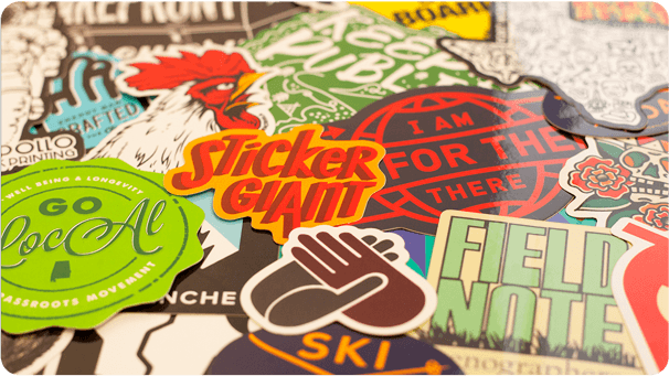 StickerGiant Sticker Montage and Free Shipping