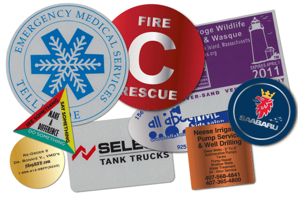 Reflective Stickers and Labels Examples