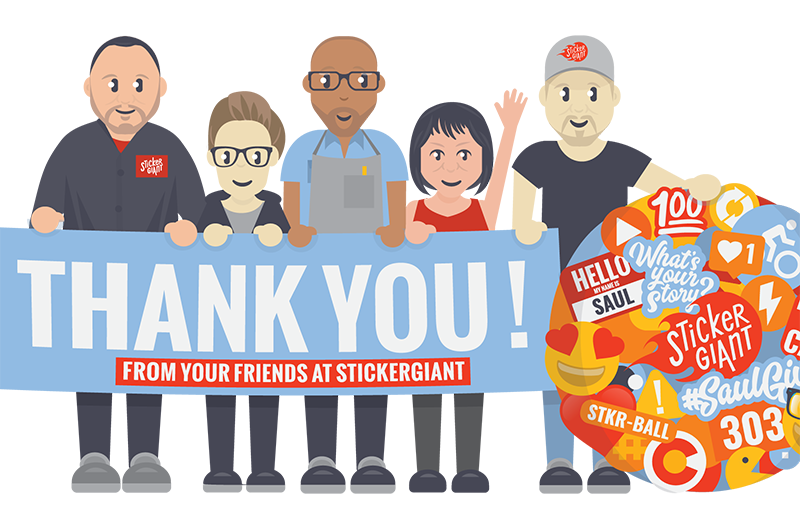 Thank You from the StickerGiant Team