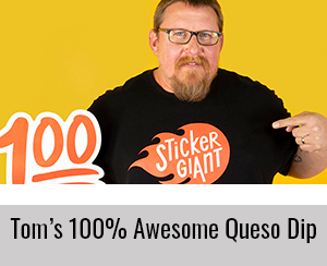 Tom-Team-StickerGiant-2019-Express-Yourself-Cookbook