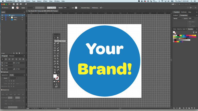 Start by Selecting the Text You Want to Outline in Your Adobe Illustrator File